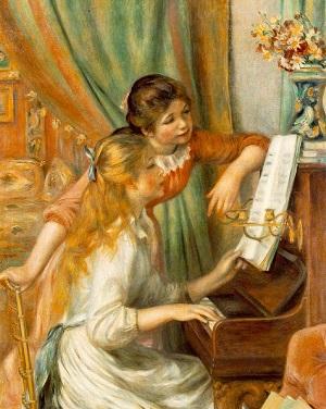 Jeunes filles au piano (Orsay Müzesi, 1892)