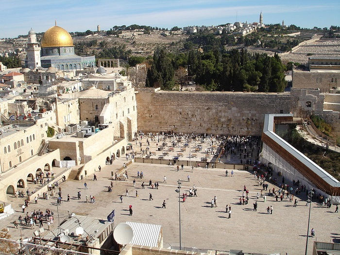 Kudüs'te bulunan Ağlama Duvarı