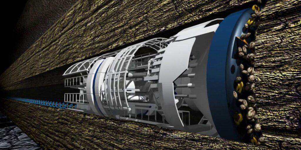 Yer altından geçecek boring company tünelleri